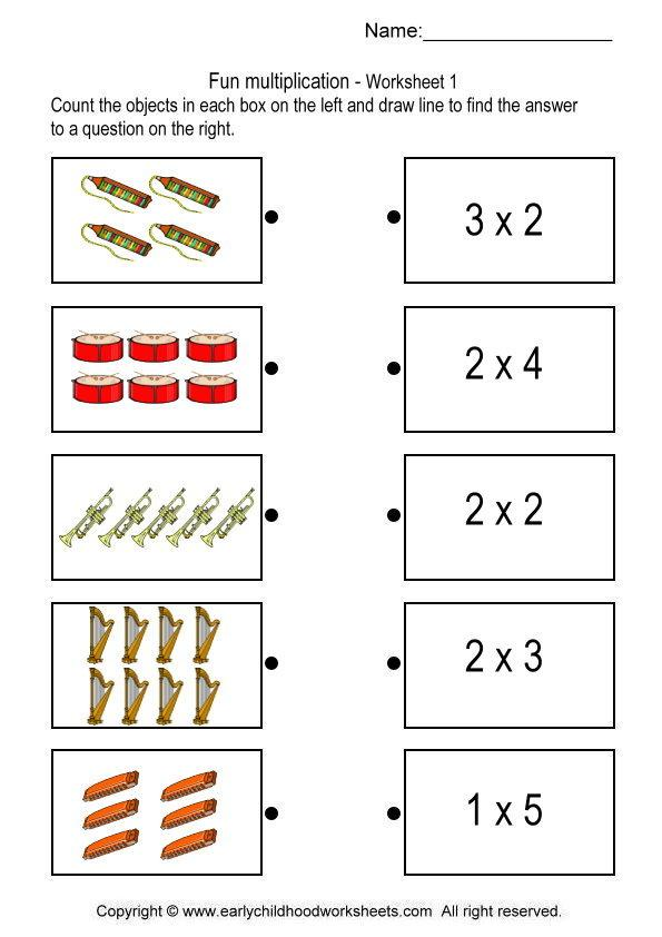 Multiplication With Pictures Worksheets The Best Worksheets Image