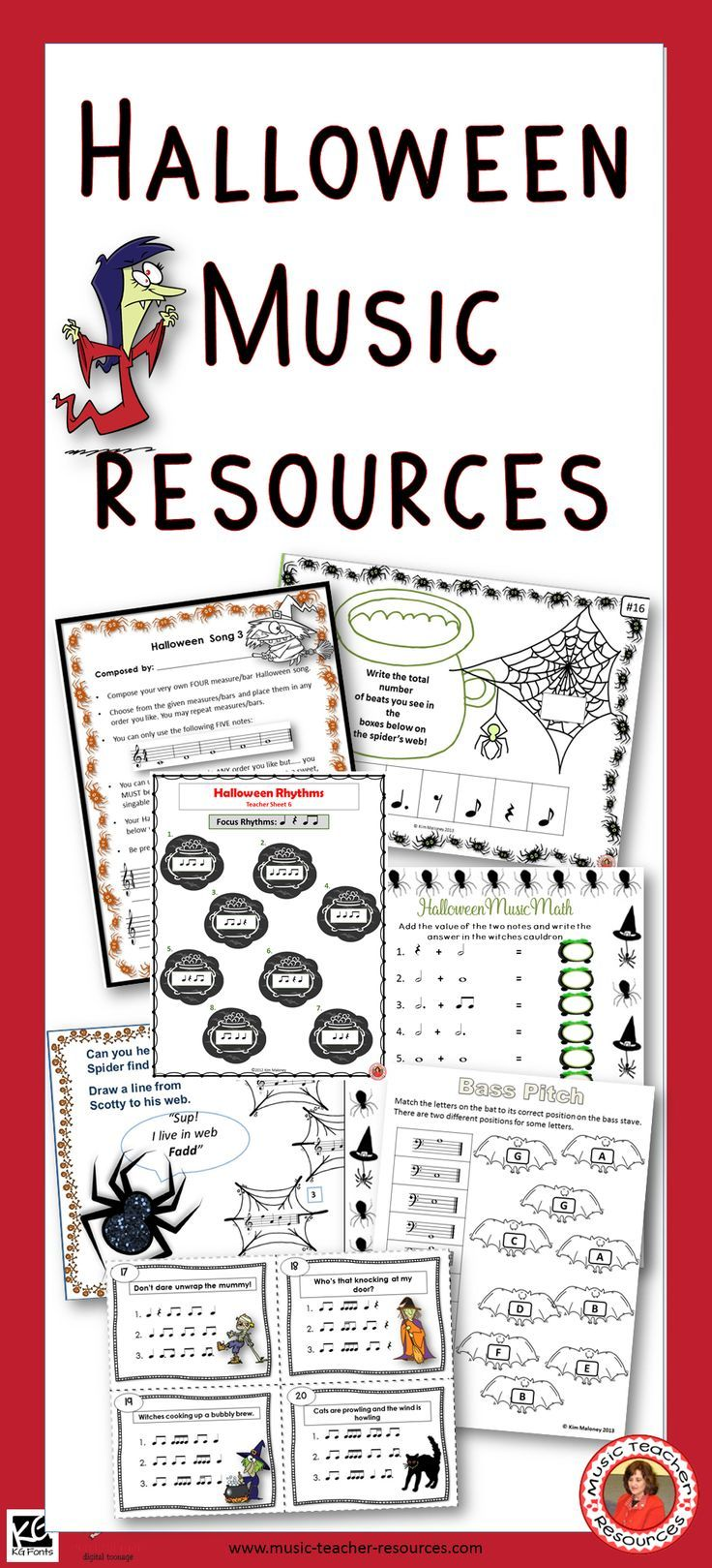 Music Worksheets And Activities For Halloween In The Music