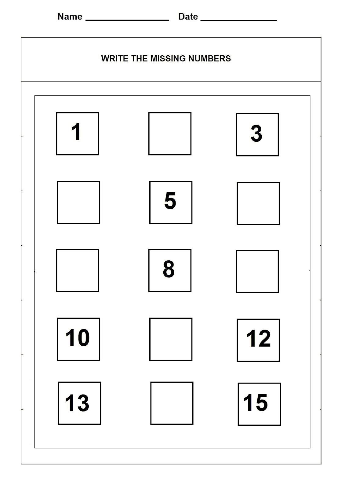 Number 15 Worksheet For Numbering Lesson
