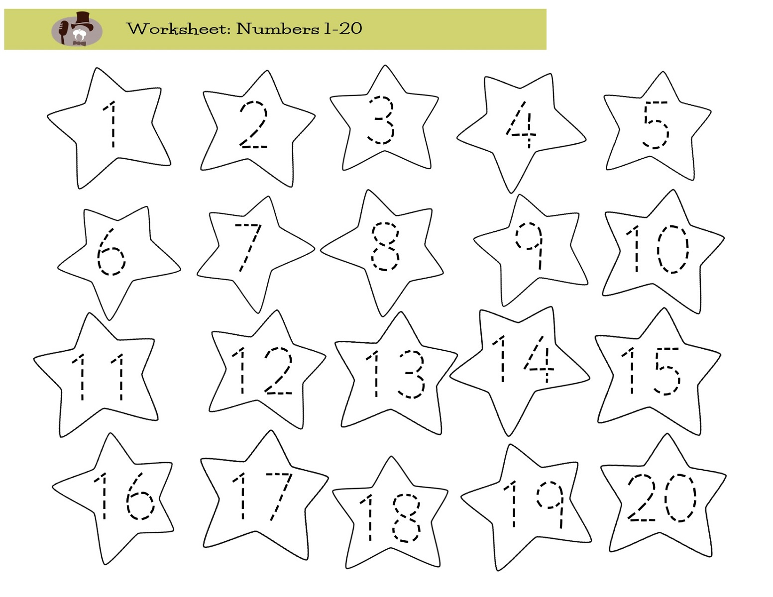 Number 20 Worksheets Worksheets For All
