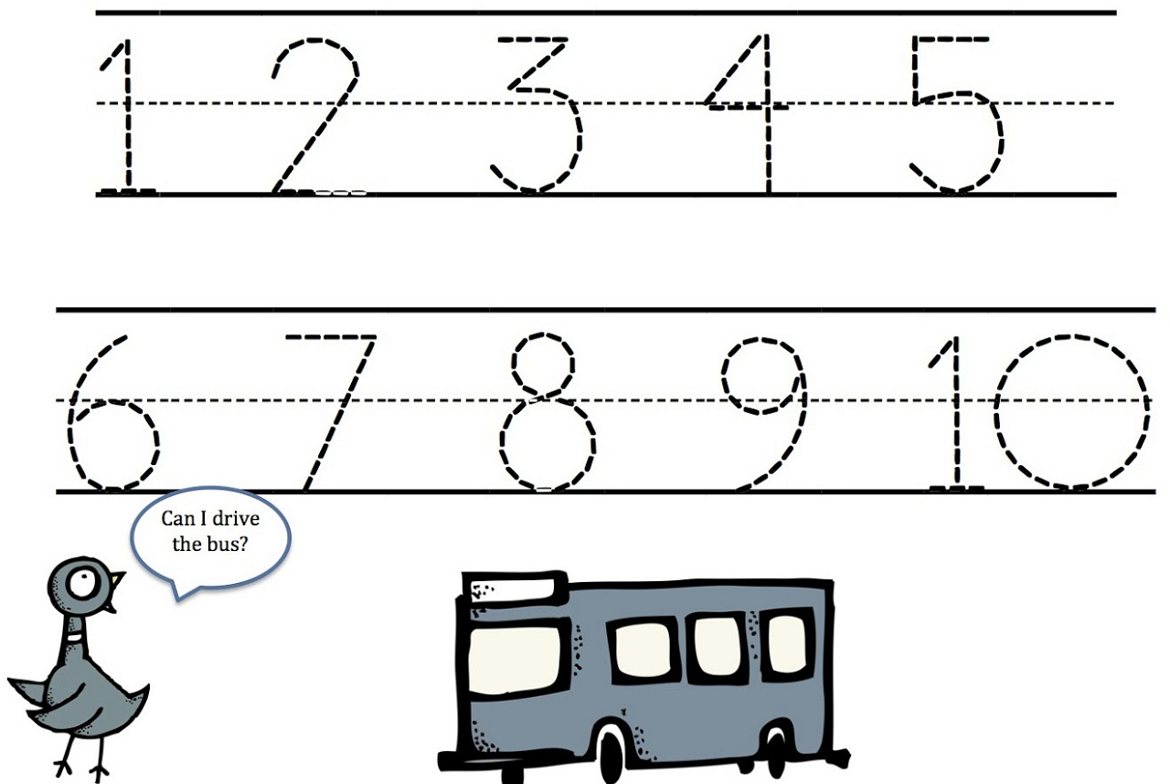 Number Tracing Worksheets 1 10 Photos