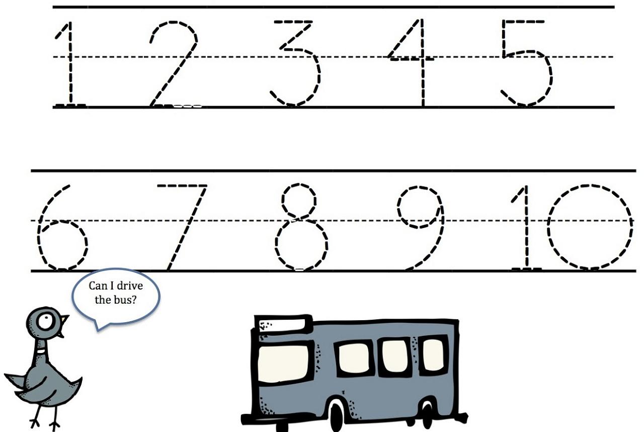 Number Tracing Worksheets 1 10 Photos - Worksheets Samples