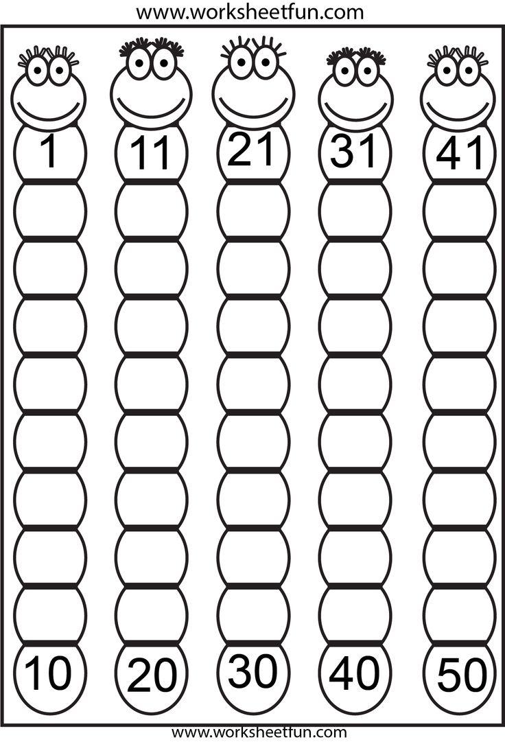 Number Words Worksheets 1 50 Worksheets For All