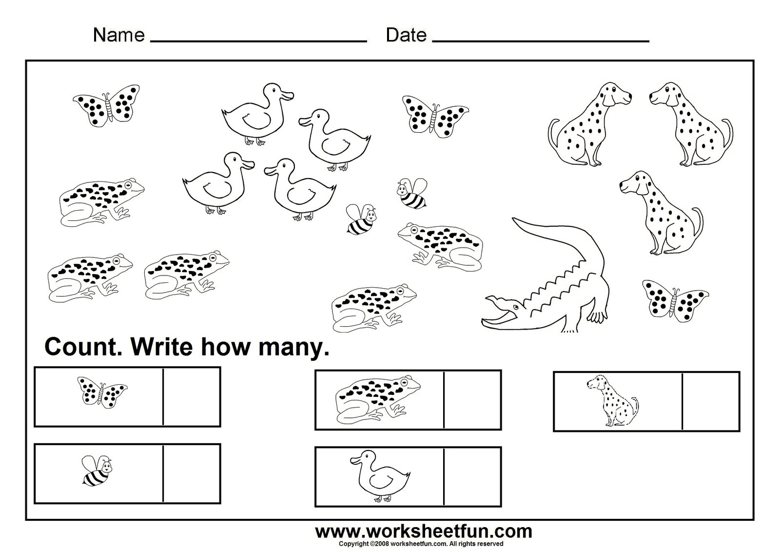 Count And Write How Many Worksheets