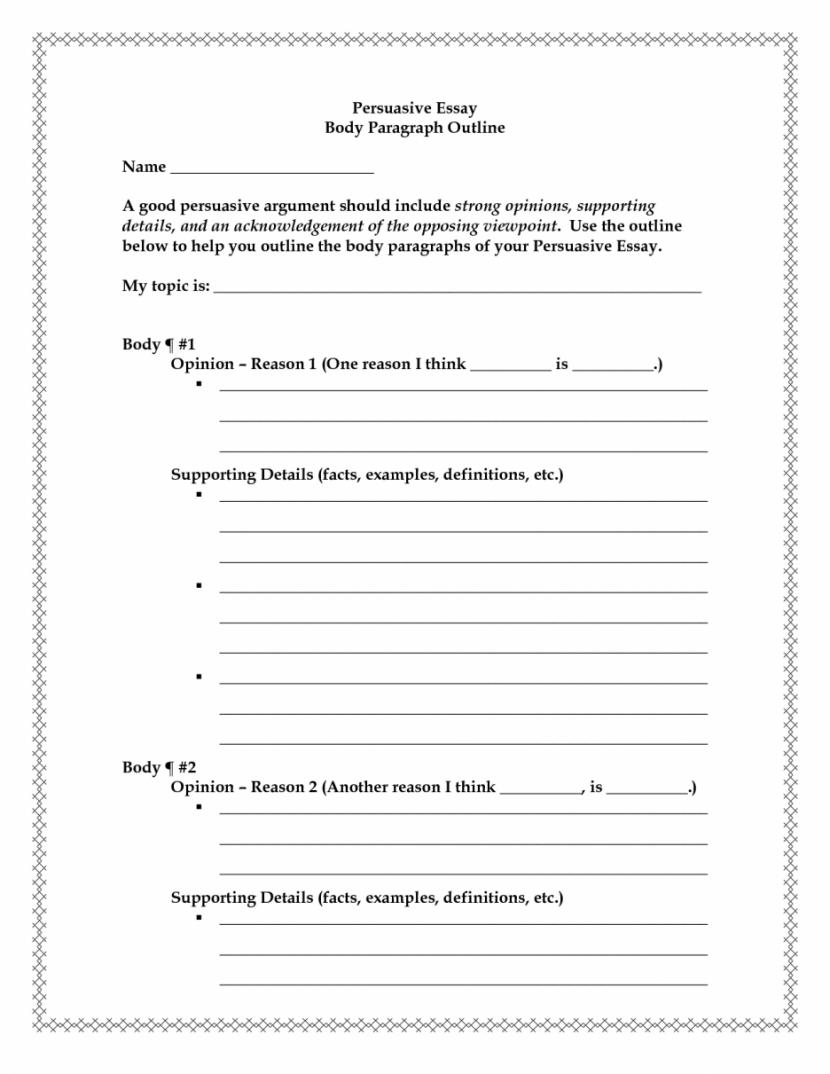 Paragraph Outline Worksheet The Best Worksheets Image Collection