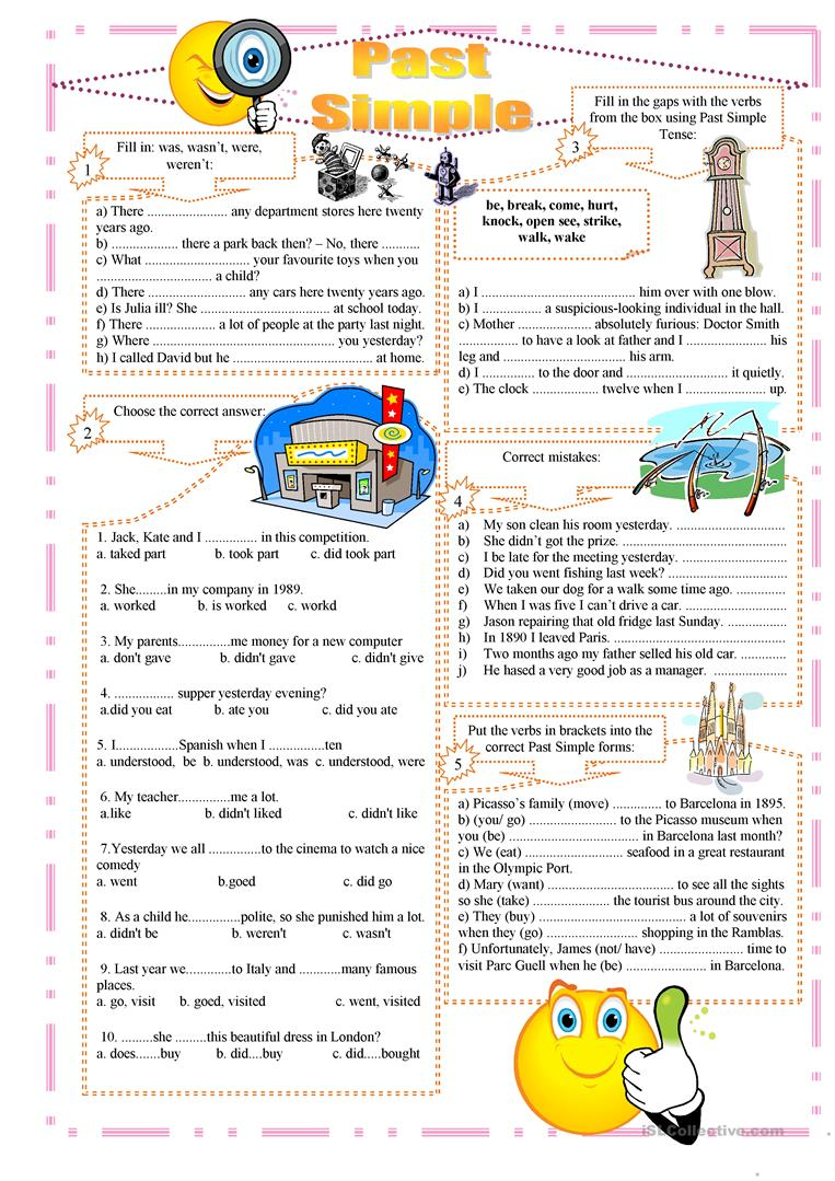 Past Simple Exercises Worksheets