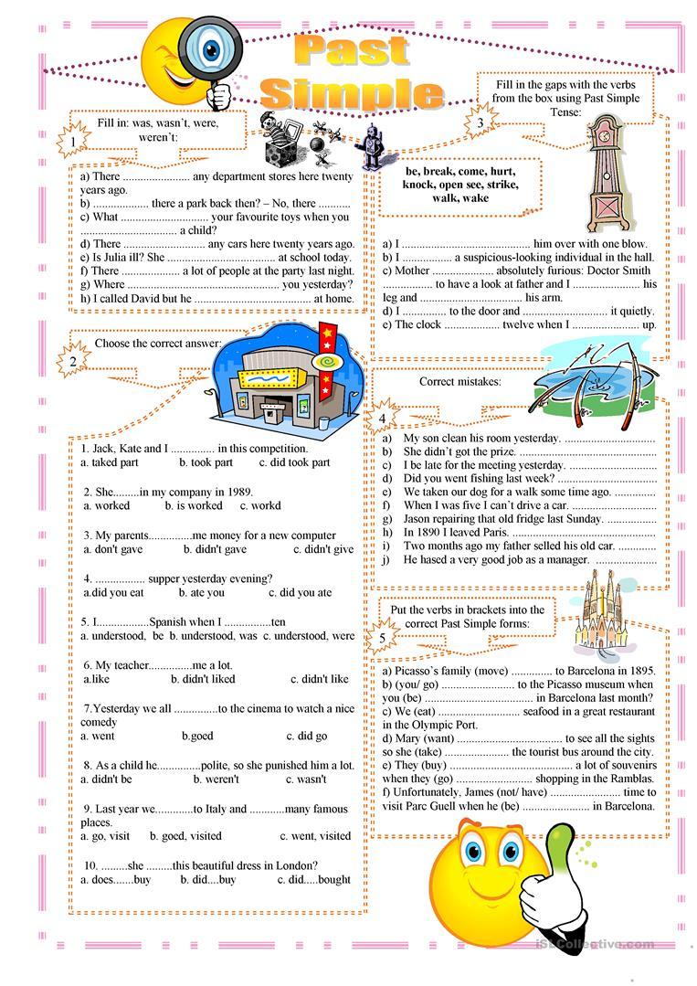 Past Simple Exercises Worksheet