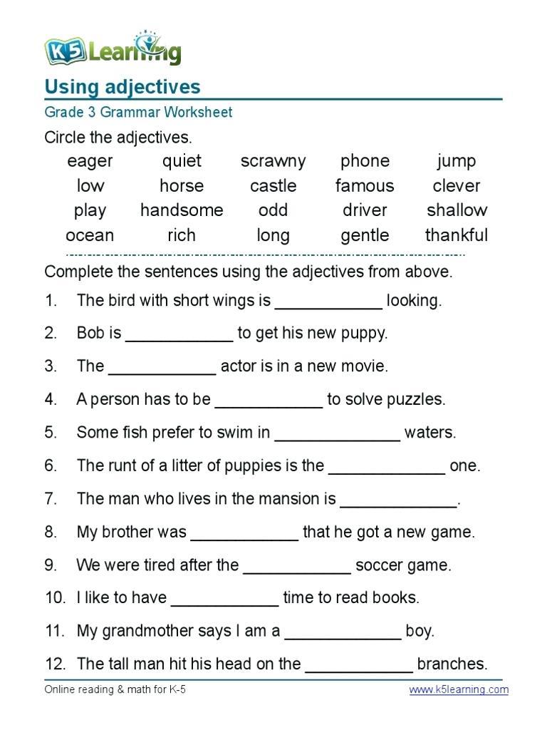 Pdf English Grammar Worksheets The Best Worksheets Image