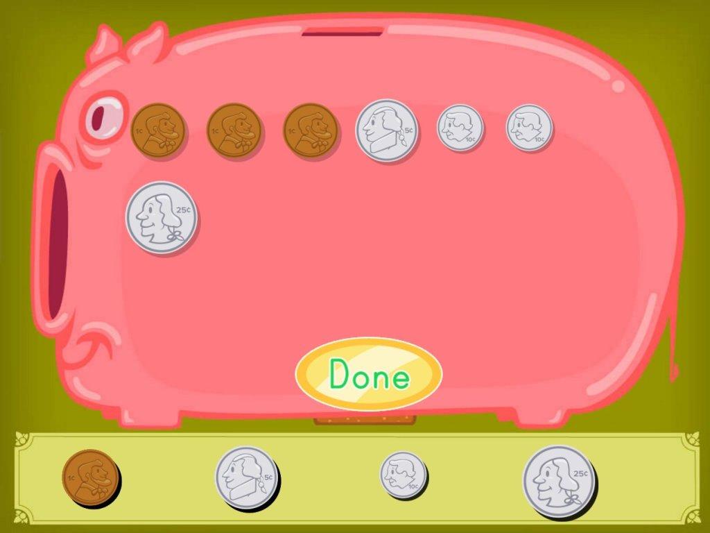 Piggy Bank Money Game
