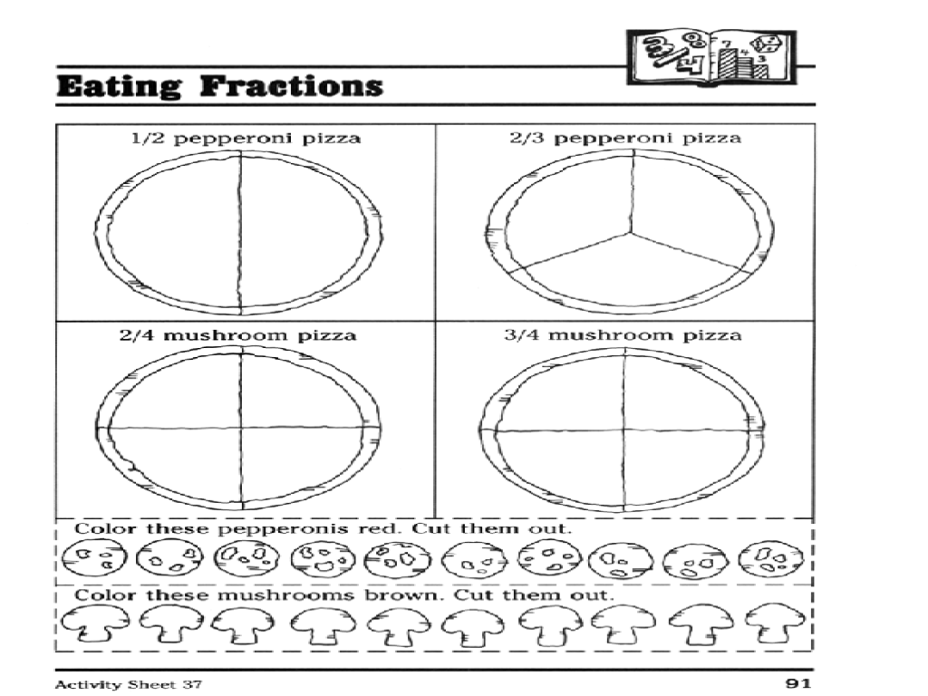 Pizza Fractions Worksheet Free Worksheets Library Download And 1st