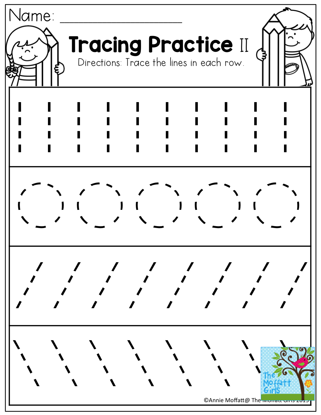 Pre K Tracing Worksheets Free Worksheets For All