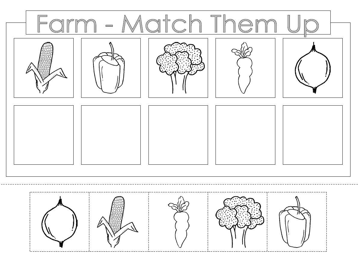 Preschool Color And Cut Worksheets Free Pre K With Farm Png