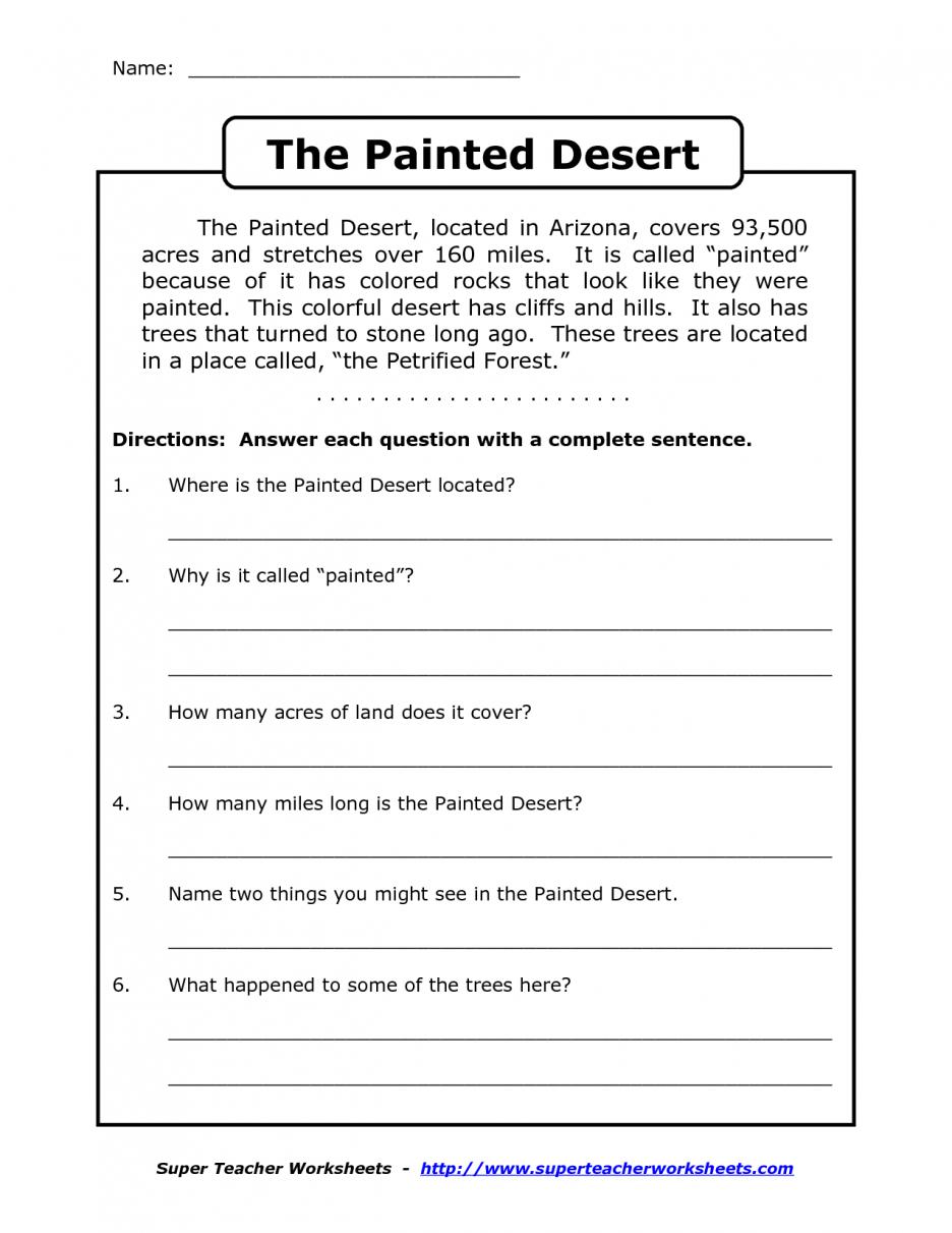 Printable Reading Comprehension Grade 3 Worksheets For All