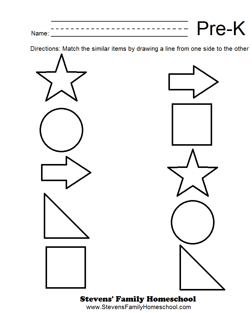 Printable Worksheet For Pre K Worksheets For All