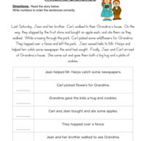Printables  Sequencing Worksheets 3rd Grade  Messygracebook