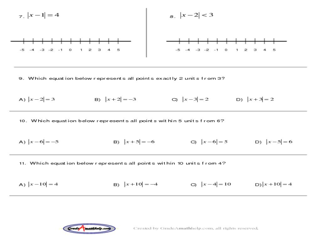 Printables Absolute Value Practice Worksheet Ronleyba Worksheets