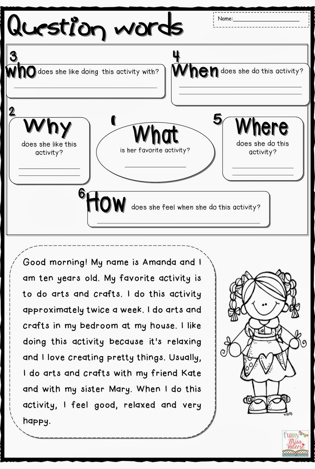 Question Words Worksheet Game About