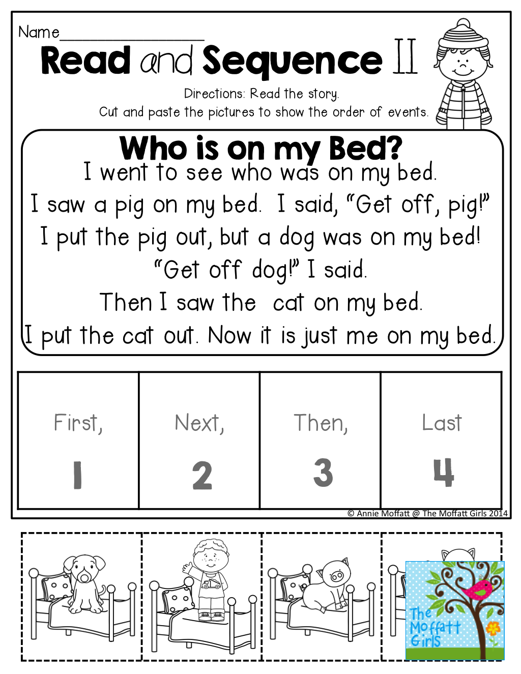 Read And Sequence The Simple Story! Cut And Past The Pictures In