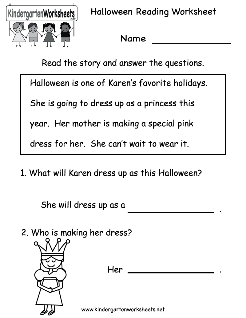 Reading Comprehension Kindergarten Worksheet Worksheets For All