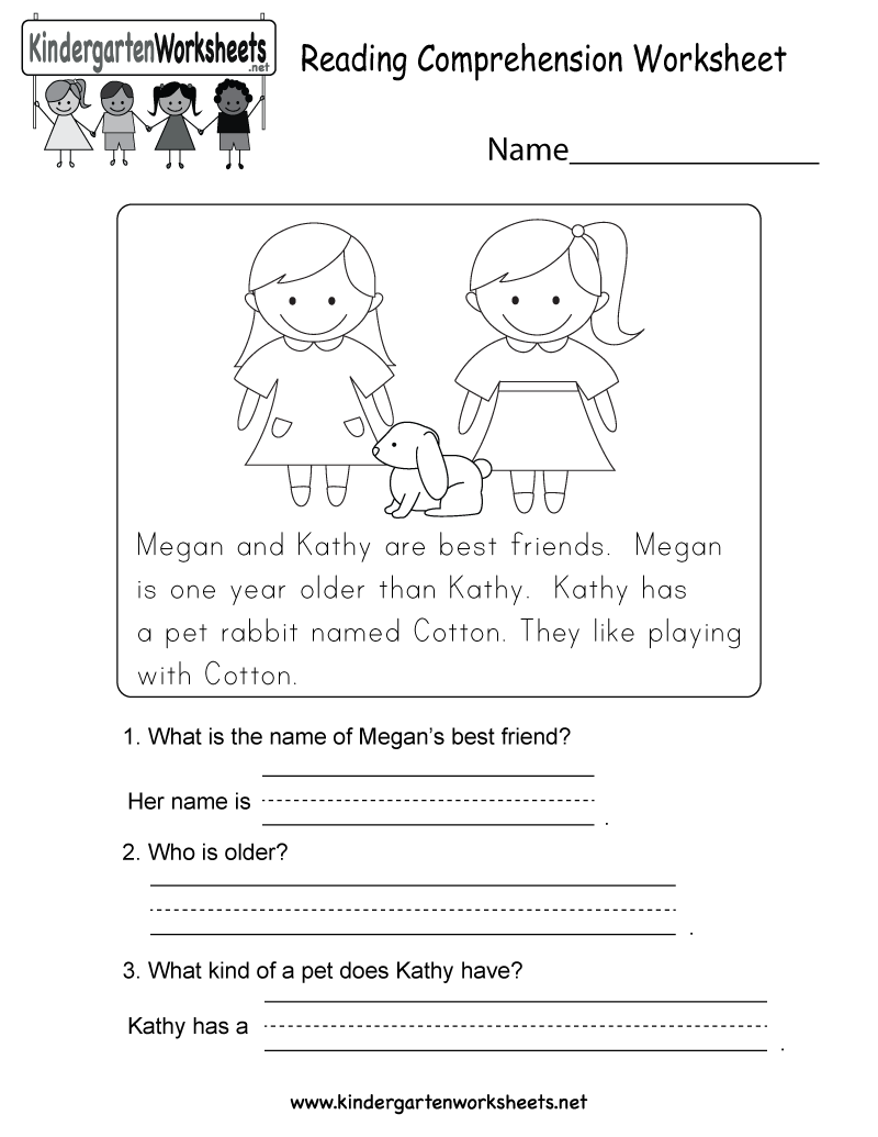 Reading Comprehension Worksheets Forrten And First Grade
