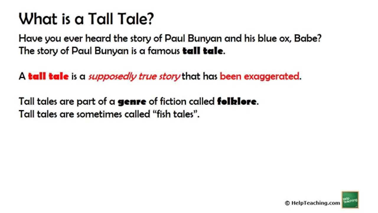 Reading Lesson  What Is A Tall Tale