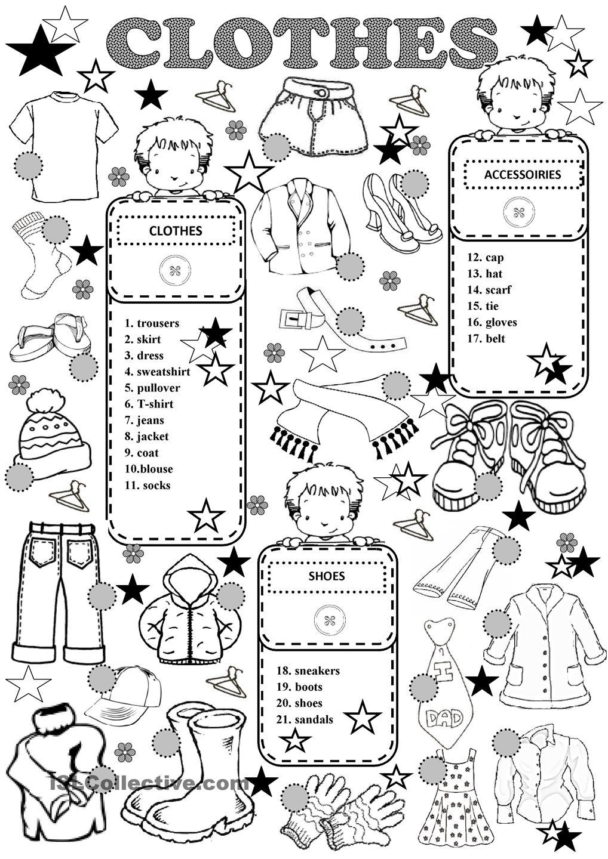 Resultado De Imagen De Clothes Worksheet