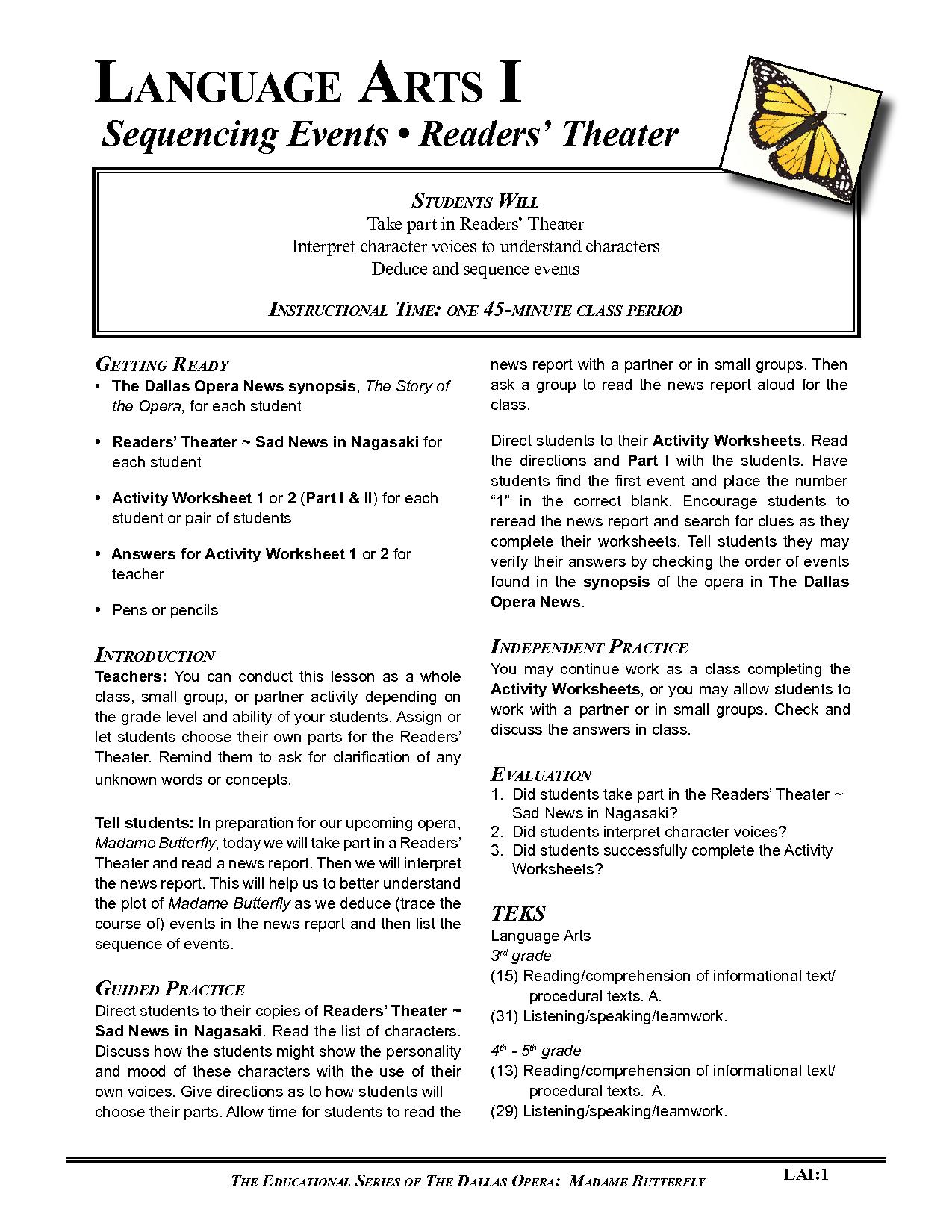 Sequencing Worksheets For Kindergarten Story Order Of Events