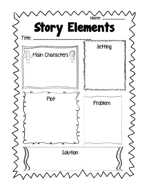 Story Elements Free Printable Kindergarten Worksheets  Story  Best