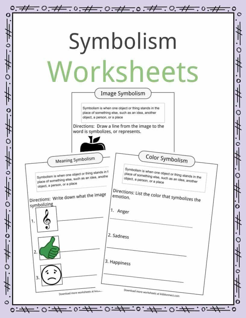 Symbolism Practice Worksheet Worksheets For All