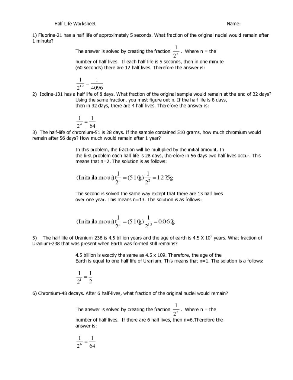 absolute dating half life worksheet Absolute dating worksheets - showing all 8 printables worksheets are relative dating work, determining the age of rocks and fossils, absolute time activities, exercise.