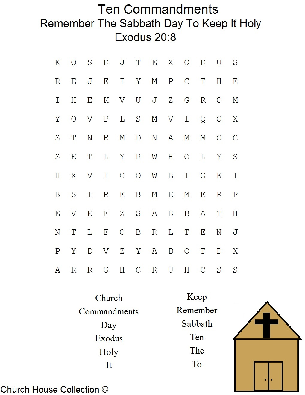 This Is A Free Printable Ten Commandments Word Find Puzzle For The