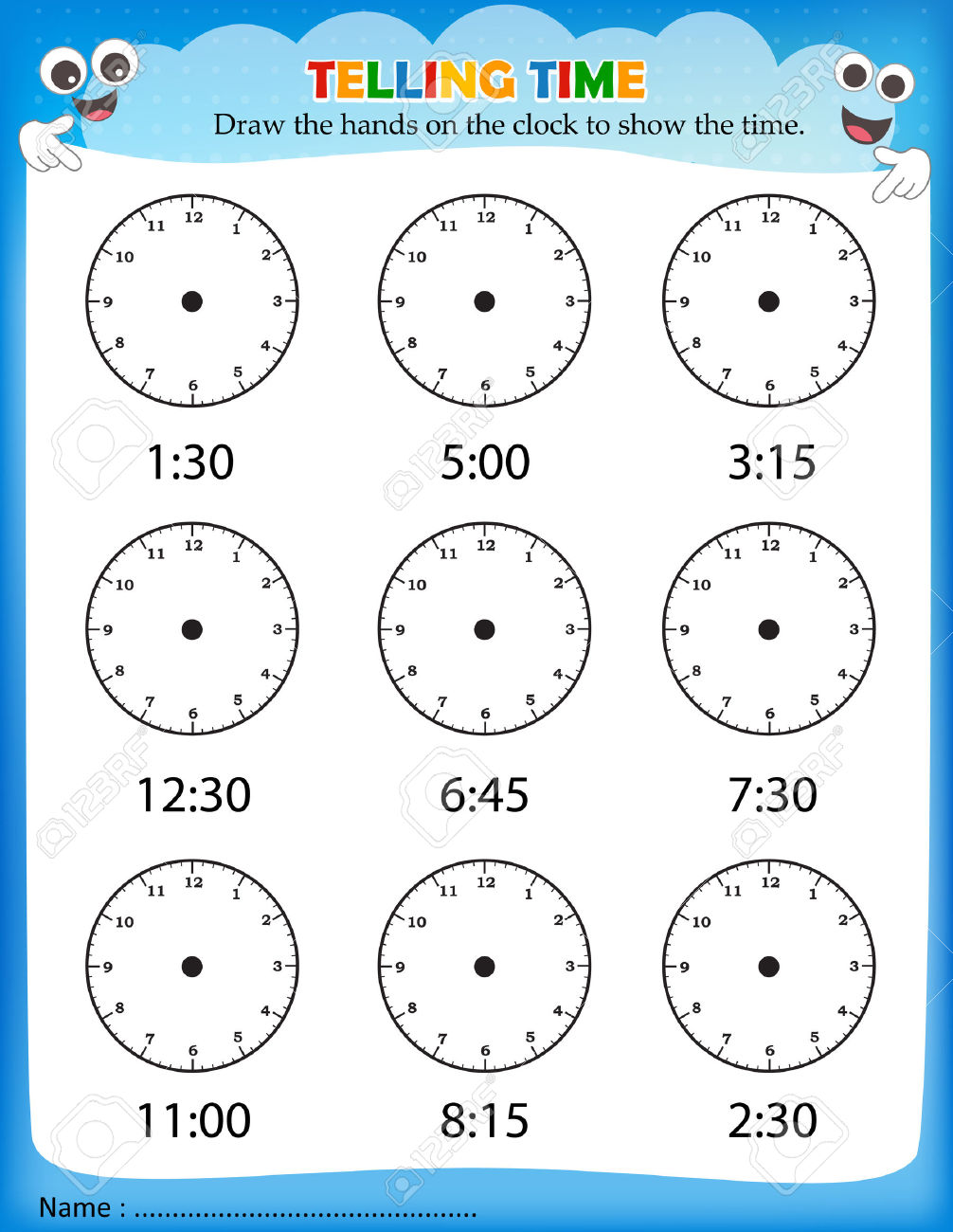 Timerksheets Kindergarten Free Printable Telling Duration Sequence