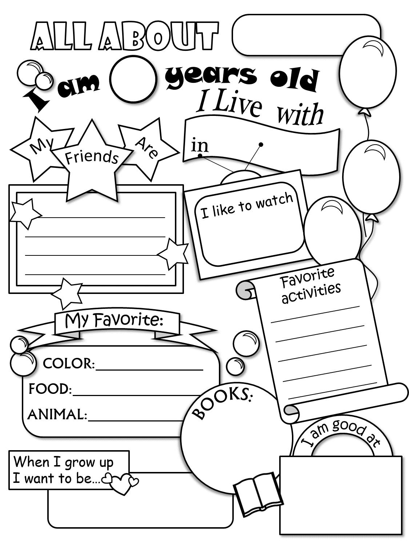 Who I Am Worksheets Worksheets For All