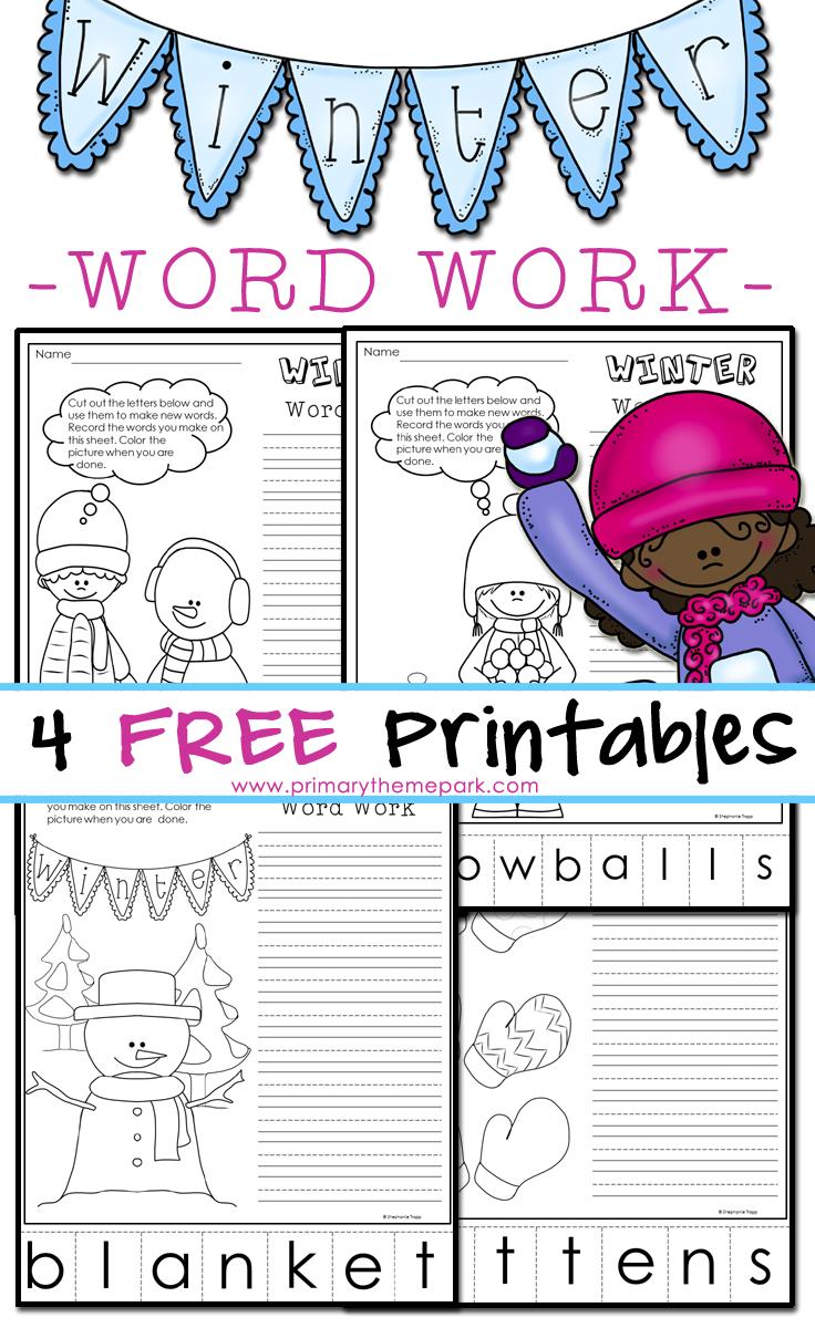 Winter Phonics Worksheets  Making Words