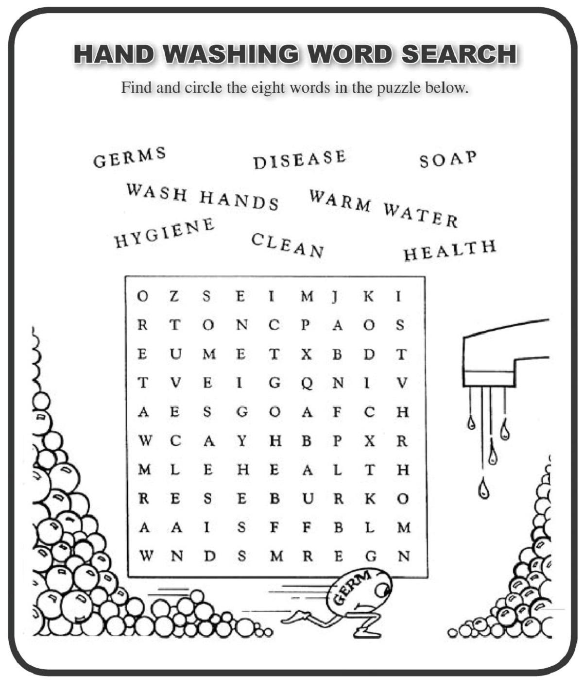 Word Search For Kids Printable