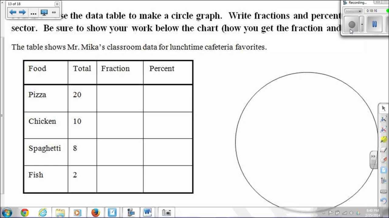 Worksheet  Circle Graphs Worksheets  Grass Fedjp Worksheet Study Site