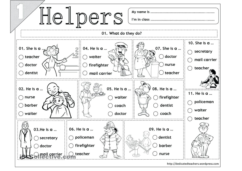 Worksheet  Community Helpers Worksheets For Kindergarten Workers