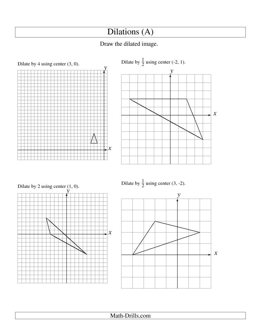 Worksheet  Dilations Practice Worksheet  Grass Fedjp Worksheet