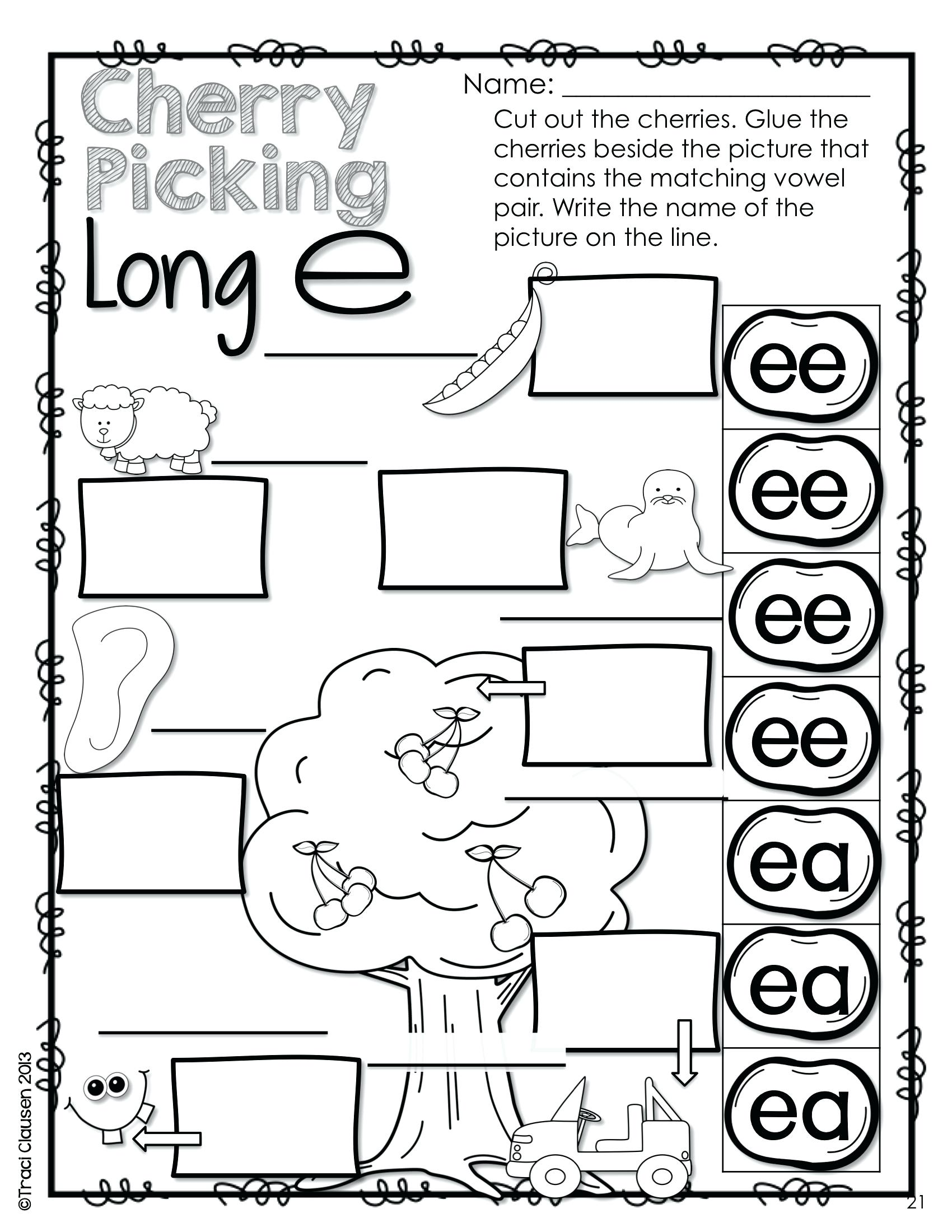 Worksheet  Long Vowel Digraphs Worksheets Practice And Review