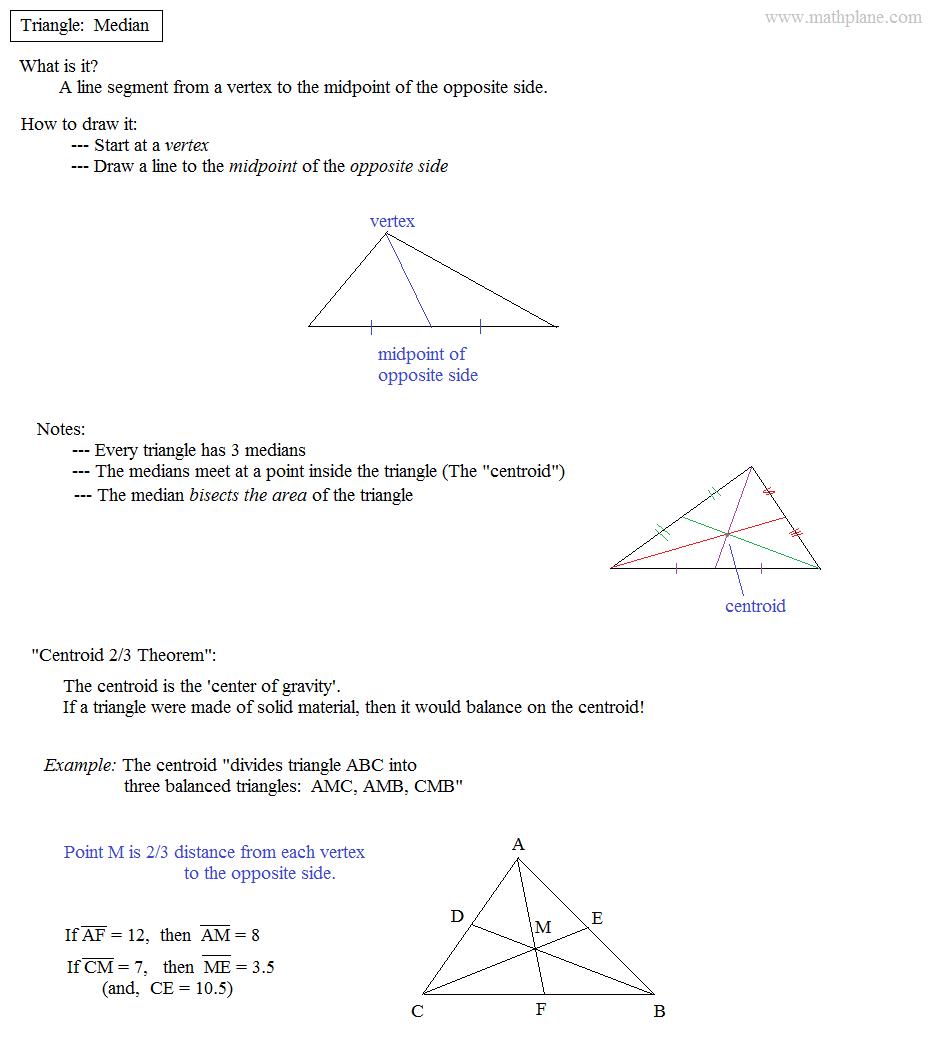 Worksheet  Medians Of A Triangle Worksheet  Grass Fedjp Worksheet