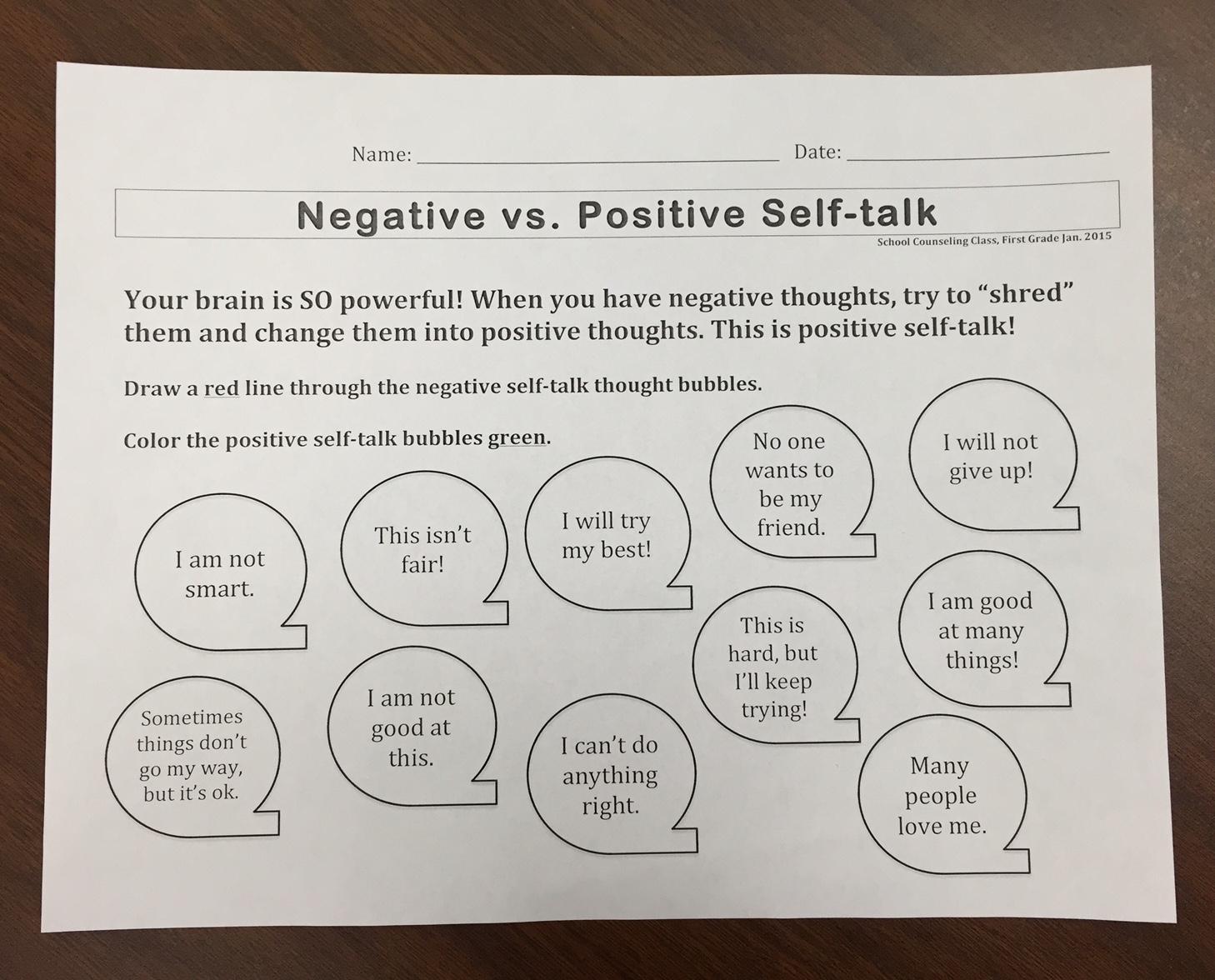 Worksheet  Positive Thinking Worksheets  Grass Fedjp Worksheet