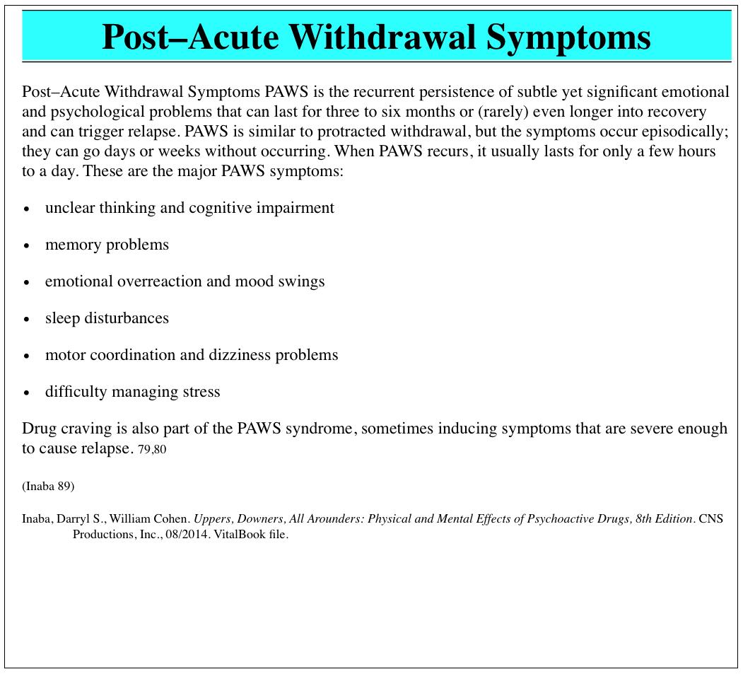 Worksheet  Post Acute Withdrawal Syndrome Worksheet  Grass Fedjp