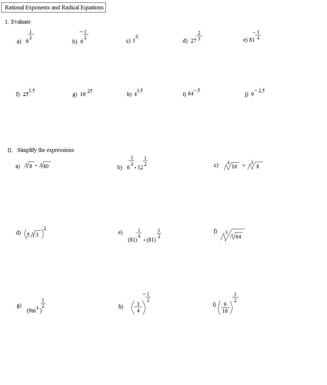 Worksheet  Rational Exponents Worksheet  Grass Fedjp Worksheet
