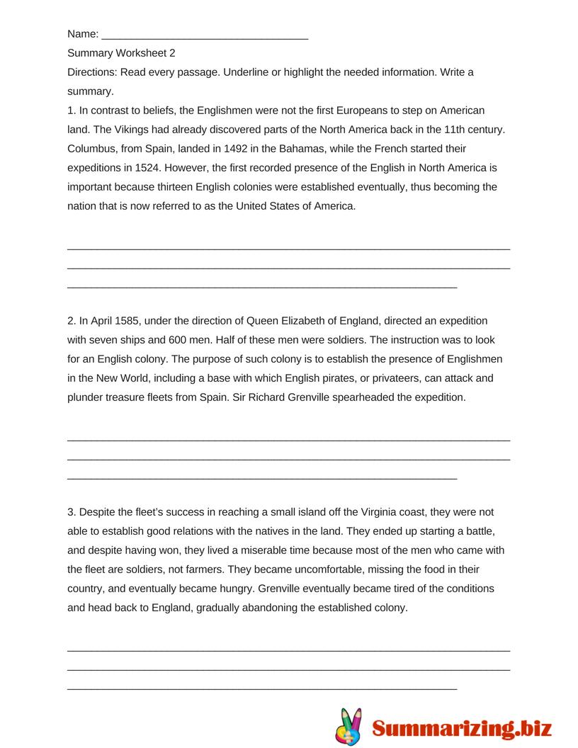 Worksheet  Summary Worksheet  Grass Fedjp Worksheet Study Site