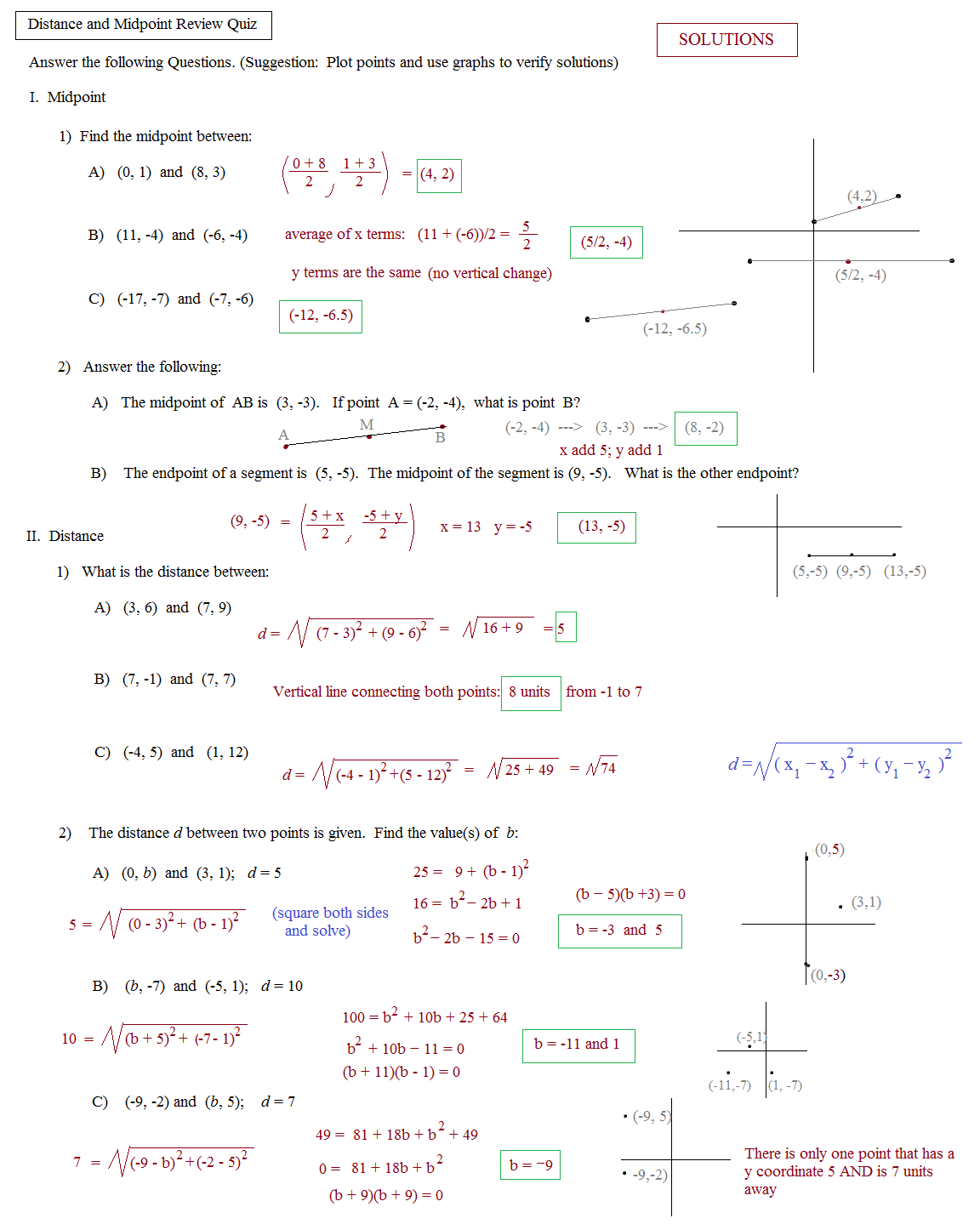 Worksheet Templates   How To Find The Midpoint Of A Line Segment