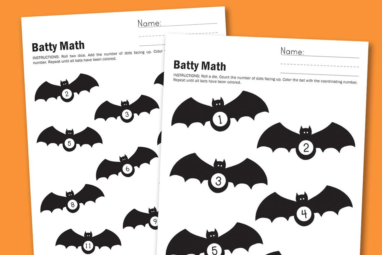 Worksheet Wednesday  Batty Math
