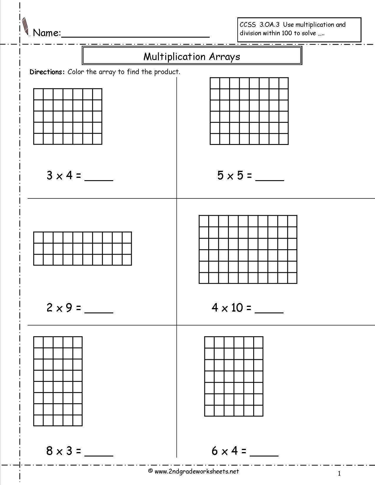 Worksheets  Area Model Multiplication Worksheets