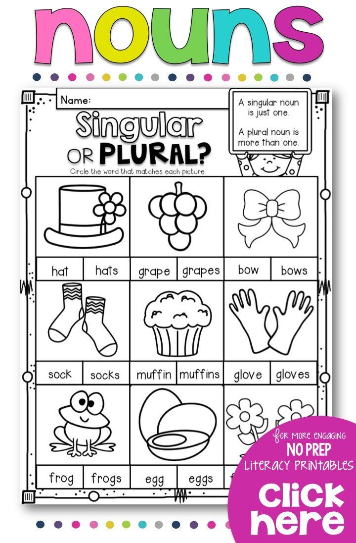 Worksheets On Singular And Plural Nouns