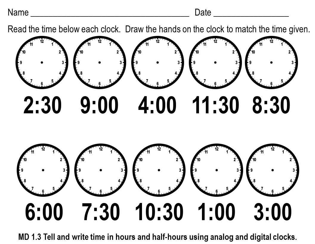 Worksheets On Telling Time Grade Worksheets For All