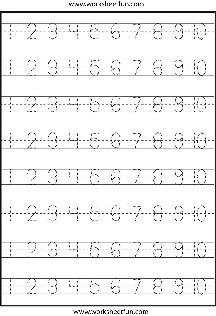 Writing Numbers Worksheets For Kindergarten Worksheets For All